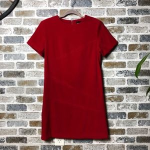 SAG HARBOR RED SHORT SLEEVE SHEATH DRESS  SIZE 10